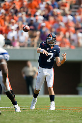 Virginia quarterback Peter Lalich (7) passes against Duke.  The Virginia Cavaliers defeated the Duke Blue Devils 23-14 at Scott Stadium in Charlottesville, VA on September 8, 2007  With the loss, Duke extended their longest-in-the-nation losing streak to 22 games.