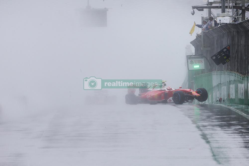 Kimi Raikkonen (FIN) Ferrari SF16-H crashed out of the race.<br /> 13.11.2016. Formula 1 World Championship, Rd 20, Brazilian Grand Prix, Sao Paulo, Brazil, Race Day.<br />  <br /> / 131116 / action press