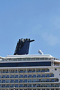 Celebrity Silhouette luxury cruise ship, docked at Haifa port on it's maiden voyage. Celebrity Silhouette is a Solstice-class cruise ship, owned and operated by Celebrity Cruises. Silhouette was launched in 2011