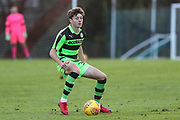 Forest Green Rovers Jordan Stevens(35) on the ball during the The Central League match between Cheltenham Town Reserves and Forest Green Rovers Reserves at The Energy Check Training Ground, Cheltenham, United Kingdom on 28 November 2017. Photo by Shane Healey.
