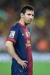 Lionel Messi of Barca. Barcelona v Real Madrid, Supercopa first leg, Camp Nou, Barcelona, 23rd August 2012...Credit - Eoin Mundow/Cleva Media.
