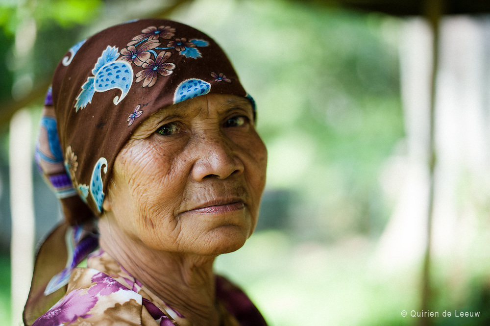 Portrait of a woman in Batu village, East Java.
