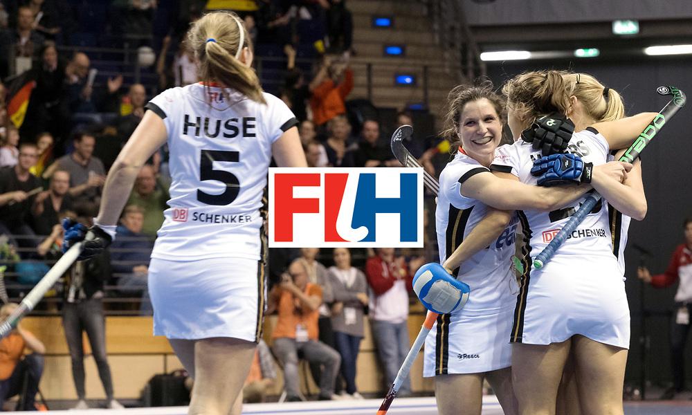 BERLIN - Indoor Hockey World Cup<br /> SF2 Belarus - Germany<br /> foto: <br /> WORLDSPORTPICS COPYRIGHT FRANK UIJLENBROEK