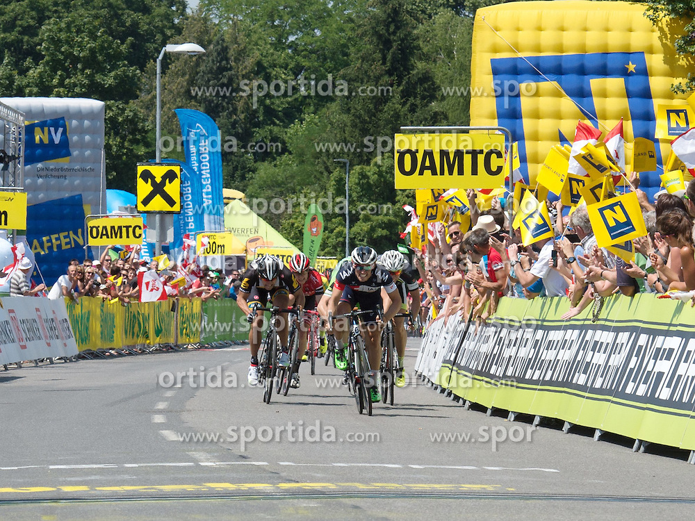 05.07.2015, Scheibbs, AUT, Österreich Radrundfahrt, 1. Etappe, Mörbisch nach Scheibbs, im Bild Sondre Holst Enger (NOR, 1.Platz Etappe) // Stage winner Sondre Holst Enger of Norway during the Tour of Austria, 1st Stage, from Mörbisch to Scheibbs, Austria on 2015/07/05. EXPA Pictures © 2015, PhotoCredit: EXPA/ Reinhard Eisenbauer