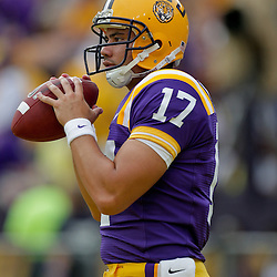 19 September 2009: LSU Tigers quarterback T.C. McCartney (17) during warm ups before a 31-3 win by the LSU Tigers over the University of Louisiana-Lafayette Ragin Cajuns at Tiger Stadium in Baton Rouge, Louisiana.