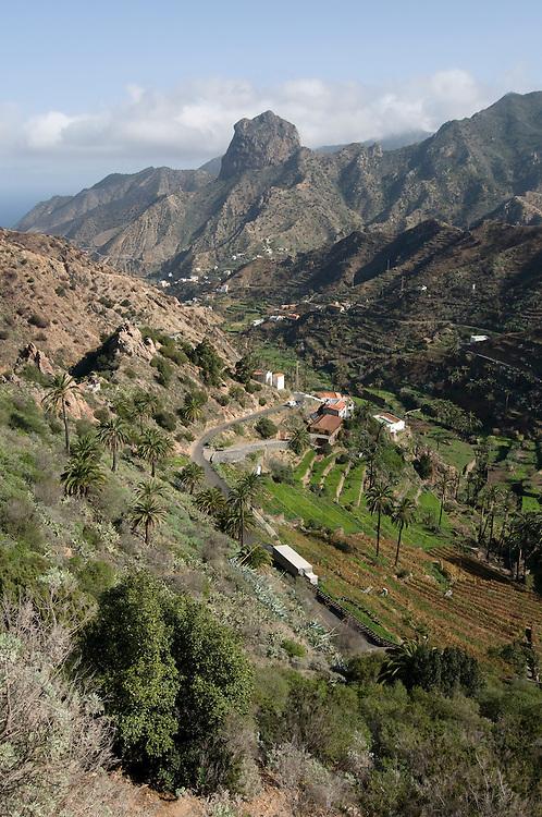 The rugged island of La Gomera, Canary Island,Spain