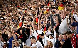 GER, Commerzbank Arena, GER, Stuttgart, FSP, LS, Deutschland (GER) vs Brasilien (BRA), im Bild .. deutsche Fans machen eine Welle / Laola-Welle geht durchs Stadion // durch the friendly ship between Germany (GER) vs Brasil (BRA) in Commerzbank Arena, Stuttgart, on 2011/08/11 EXPA Pictures © 2011, PhotoCredit: EXPA/ nph/  Hessland       ****** out of GER / CRO  / BEL ******