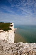 Beachy Head lighthouse and chalk cliffs, East Sussex