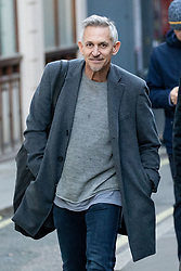 © Licensed to London News Pictures. 12/12/2018. London, UK. Former professional footballer and sports broadcaster Gary Lineker seen walking past the Royal Courts of Justice. Photo credit : Tom Nicholson/LNP