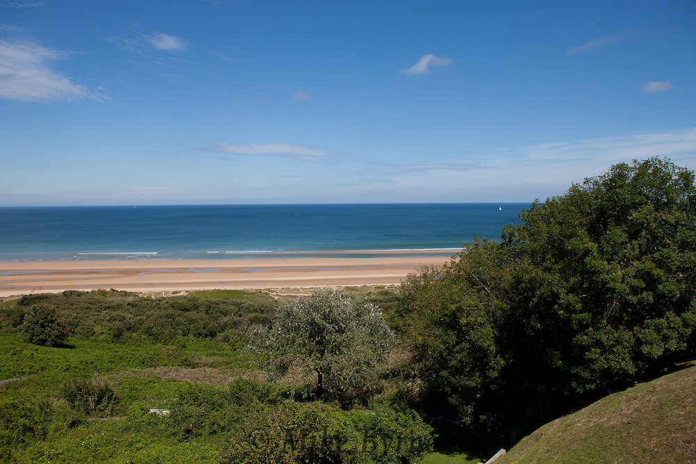 Omaha Beach, one of the landing beaches for the US Armed Forces on D-Day.