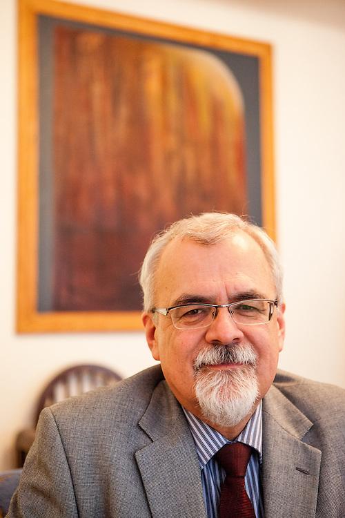 Pfr. Joel Ruml, Synodalsenior <br /> der Ev. Kirche der B&ouml;hmischen Br&uuml;der in seinem B&uuml;ro in Prag.