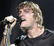 Rob Thomas of Matchbox 20 belts out a song Monday during a concert at the Joyce Center at the University of Notre Dame.