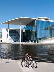 View of Marie Elisabeth Lueders House beside Spree River in  Berlin, Germany
