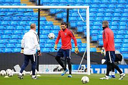 Salvadore Sirigu of PSG trains - Mandatory byline: Matt McNulty/JMP - 07966386802 - 11/04/2016 - FOOTBALL - Manchester City v PSG - Etihad Stadium -Manchester,England - UEFA Champions League