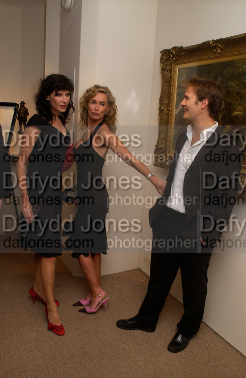 Ronni Ancona,  Angie Rutherford and Tom Rutherford, Fundraising evening in aid of Education at the Hackney Empire. Hosted by Fleming Family and partners at The Fleming collection. Berkeley St.  24 June 2004. SUPPLIED FOR ONE-TIME USE ONLY-DO NOT ARCHIVE. © Copyright Photograph by Dafydd Jones 66 Stockwell Park Rd. London SW9 0DA Tel 020 7733 0108 www.dafjones.com