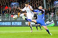 Johan RAMARE / Sebastien PUYGRENIER - 05.03.2015 - Brest / Auxerre - 1/4Finale Coupe de France<br />Photo : Maxime Kerriou / Icon Sport
