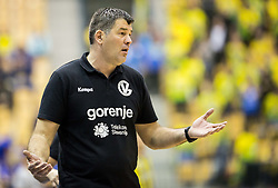 Gregor Cvijic, head coach of RK Gorenje during handball match between RK Celje Pivovarna Lasko and RK Gorenje Velenje in Eighth Final Round of Slovenian Cup 2015/16, on December 10, 2015 in Arena Zlatorog, Celje, Slovenia. Photo by Vid Ponikvar / Sportida