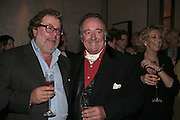 Patrick Meehan and Dai Llewellen, Charles Finch and Weidenfeld and Nicolson host a party to celebrate the publication of 'Dancing Into Battle' by Nick Foulkes. The Westbury Hotel, Conduit St. London. 14 December 2006. ONE TIME USE ONLY - DO NOT ARCHIVE  © Copyright Photograph by Dafydd Jones 248 CLAPHAM PARK RD. LONDON SW90PZ.  Tel 020 7733 0108 www.dafjones.com