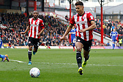 Brentford Forward Ollie Watkins (11) gets played a through ball during the EFL Sky Bet Championship match between Brentford and Ipswich Town at Griffin Park, London, England on 7 April 2018. Picture by Andy Walter.