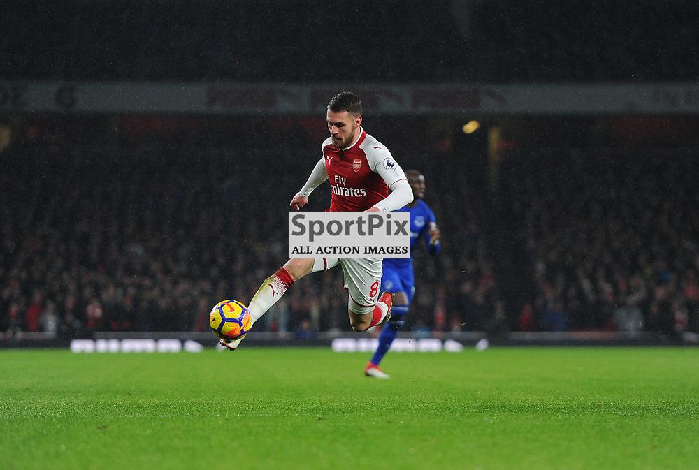 Aaron Ramsey of Arsenal controls the ball during Arsenal vs Everton, Premier League, 03.02.18 (c) Harriet Lander | SportPix.org.uk
