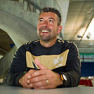 FC Zurich's soccer head coach Urs FISCHER of Switzerland is pictured during an interview in Zurich, Switzerland, Saturday, Oct. 2, 2010. (Photo by Patrick B. Kraemer / MAGICPBK)