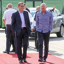 15.07.2014, Flughafen, Muenchen, GER, FIFA WM, Empfang der Weltmeister in Deutschland, Finale, im Bild l-r: stellvertretenden Vorstandsvorsitzenden Jan-Christian Dreesen (FC Bayern Muenchen) und Vorstand Matthias Sammer (FC Bayern Muenchen) // during Celebration of Team Germany for Champion of the FIFA Worldcup Brazil 2014 at the Flughafen in Muenchen, Germany on 2014/07/15. EXPA Pictures © 2014, PhotoCredit: EXPA/ Eibner-Pressefoto/ Kolbert  *****ATTENTION - OUT of GER*****