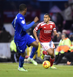 Swindon Town's Nathan Thompson in action during the Sky Bet League One match between Swindon Town and Chesterfield at The County Ground on January 17, 2015 in Swindon, England. - Photo mandatory by-line: Paul Knight/JMP - Mobile: 07966 386802 - 17/01/2015 - SPORT - Football - Swindon - The County Ground - Swindon Town v Chesterfield - Sky Bet League One
