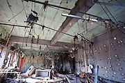The interior of the post office remains gutted and littered with debris in the Shizugawa district of Minami Sanriku, Japan on Tuesday 24 May 2011. Almost 100 post office buildings were completely destroyed during  the March 11 magnitude 9 quake and tsunamis that hit northeastern Japan..Photographer: Robert Gilhooly