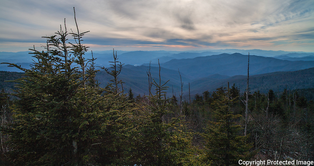 A scenic view at Smoky Mountain National Park near Gatlinburg, Tennessee.  photo by David Peterson