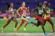 Great Britain, London - 2017 August 10: Selina Buchel from Switzerland competes in women's 800 meters qualification during IAAF World Championships London 2017 Day 7 at London Stadium on August 10, 2017 in London, Great Britain.<br /> <br /> Mandatory credit:<br /> Photo by © Adam Nurkiewicz<br /> <br /> Adam Nurkiewicz declares that he has no rights to the image of people at the photographs of his authorship.<br /> <br /> Picture also available in RAW (NEF) or TIFF format on special request.<br /> <br /> Any editorial, commercial or promotional use requires written permission from the author of image.