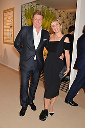 TANIA BRYER and ROD BARKER at the Masterpiece Marie Curie Party supported by Jeager-LeCoultre held at the South Grounds of The Royal Hospital Chelsea, London on 30th June 2014.