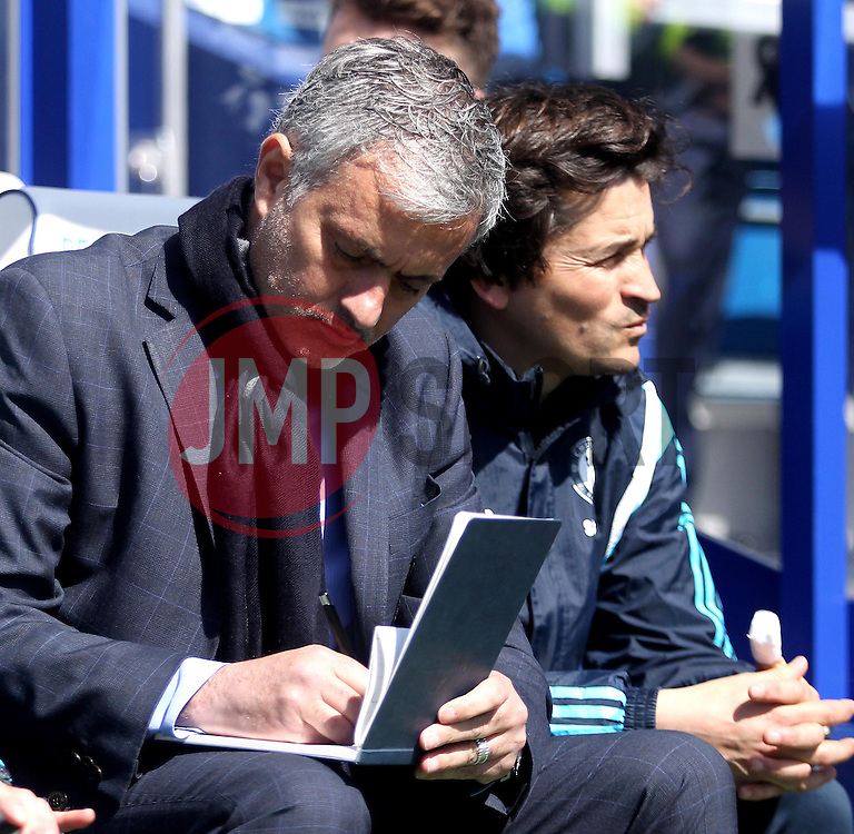 Chelsea Manager, Jose Mourinho takes some notes - Photo mandatory by-line: Robbie Stephenson/JMP - Mobile: 07966 386802 - 12/04/2015 - SPORT - Football - London - Loftus Road - Queens Park Rangers v Chelsea - Barclays Premier League