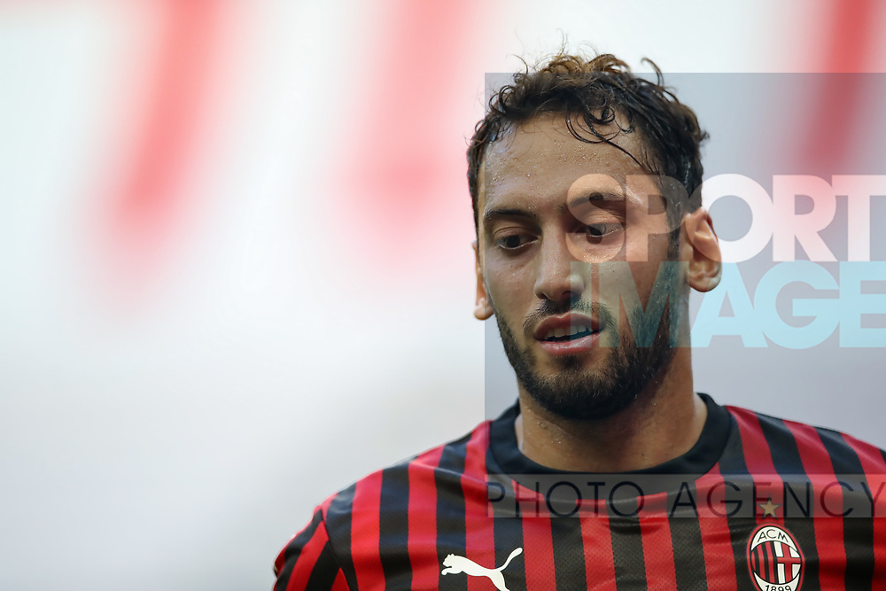 AC Milan's Turkish midfielder Hakan Calhanoglu during the Serie A match at Giuseppe Meazza, Milan. Picture date: 28th June 2020. Picture credit should read: Jonathan Moscrop/Sportimage