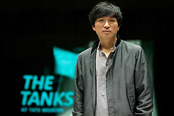 © Licensed to London News Pictures. 16/07/2012.  LONDON, UK. Korean artist Sung Hwan Kim is seen in one of the Tate Modern's Tank Room exhibition spaces.  A new commission by Kim was today (16/07/12) unveiled at the Tank Rooms as the first installation created especially for the space which mark the first phase of the Tate Modern Project and the beginning of the 15 week 'Art in Action' festival. Photo credit: Matt Cetti-Roberts/LNP
