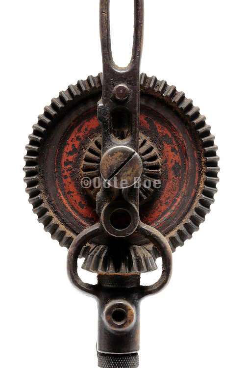 gears of an old manual operated hand drill