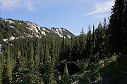 Mountains on trail to Revette Lake, Thompson Pass, on the Idaho Montana Boarder