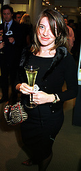 MISS LINDA K BENNETT the fashion designer, at a dinner in London on 26th October 1999.MYE 63
