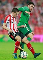 Athletic Club de Bilbao's Inigo Cordoba (l) and Panathinaikos FC's Christos Donis during Europa League Play-off, 2nd leg. August 24,2017. (ALTERPHOTOS/Acero)