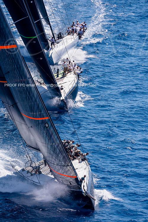 Proteus sailing in the  Corfu Challenge, day three.
