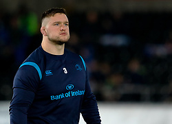 Leinster's Andrew Porter during the pre match warm up<br /> <br /> Photographer Simon King/Replay Images<br /> <br /> Guinness PRO14 Round 19 - Ospreys v Leinster - Saturday 24th March 2018 - Liberty Stadium - Swansea<br /> <br /> World Copyright © Replay Images . All rights reserved. info@replayimages.co.uk - http://replayimages.co.uk