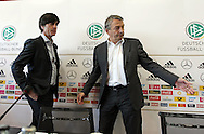 Former German Football Association president Wolfgang Niersbach (pictured right with Germany manager Joachim Low) is facing a two-year ban from all football-related activity.<br /> The independent ethics committee of world governing body Fifa recommended Niersbach be punished for a breach of its ethics code.<br /> In November, the 66-year-old resigned from his role as German FA president over bribery allegations.<br /> Picture by EXPA Pictures/Focus Images Ltd 07814482222<br /> 20/05/2016<br /> ***UK &amp; IRELAND ONLY***<br /> EXPA-EIB-131018-0006.jpg