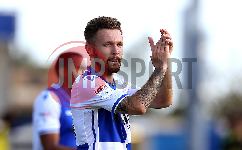 Matt Taylor of Bristol Rovers applauds the fans at full time after his winning goal against Oxford United - Mandatory by-line: Robbie Stephenson/JMP - 14/08/2016 - FOOTBALL - Memorial Stadium - Bristol, England - Bristol Rovers v Oxford United - Sky Bet League One