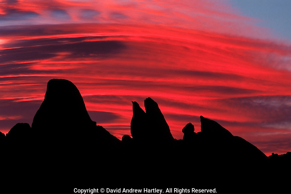 Lenticular clouds above Alabama Hills, Lone Pine, California