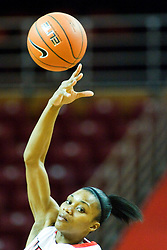 01 January 2011: Kenyatta Shelton handles the tip off during an NCAA Women's basketball game between the Northern Iowa Panthers and the Illinois State Redbirds at Redbird Arena in Normal Illinois.