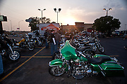 Harley Davidson motorcycle at Hooters Bike Night in south Oklahoma City, OK