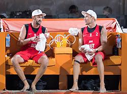 11.08.2016, Copacabana Arena, Rio de Janeiro, BRA, Rio 2016, Olympische Sommerspiele, Beachyolleyball, Herren, im Bild v.l. Clemens Doppler (AUT, 1), Alexander Horst (AUT, 2) // f.l. Clemens Doppler and Alexander Horst of Austria during the Mens Beachvolleyball Tournament of the the Rio 2016 Olympic Summer Games at the Copacabana Arena in Rio de Janeiro, Brazil on 2016/08/11. EXPA Pictures © 2016, PhotoCredit: EXPA/ Johann Groder
