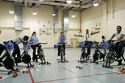 The spinning class comes to an end after an hour of intensive exercise