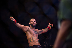 September 23, 2018 - Sao Paulo, Sao Paulo, Brazil - THIAGO SANTOS MARRETA (BRA) celebrates after defeating Eryk Anders (USA) by knock out during UFC Fight Night Sao Paulo at Ibirapuera Gymnasium in Sao Paulo, Brazil. (Credit Image: © Paulo Lopes/ZUMA Wire)