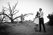 Eric and Adriana of New York City photographed in Santa Fe New Mexico at their engagement party before their November wedding in Costa Rica.