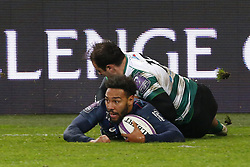 December 8, 2017 - Paris, France, France - Deuxieme essai de Yobo pour le Stade Francais (Credit Image: © Panoramic via ZUMA Press)